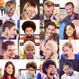 Collage Diverse Faces Group People Concept royalty free stock image