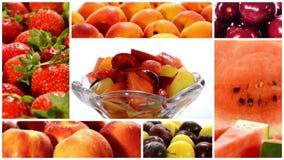 Collage diverso de las frutas almacen de metraje de vídeo