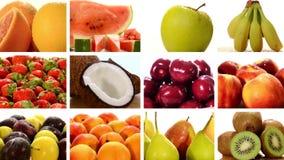 Collage diverso de las frutas metrajes