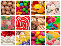 Collage dolce del fondo Fotografie Stock