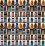 Collage doors Royalty Free Stock Images