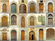 Collage of doors, Italy Royalty Free Stock Photography