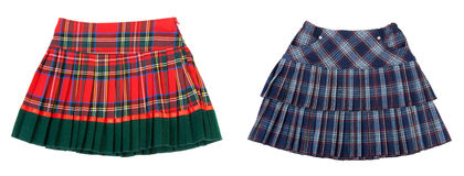 Collage dos faldas rayadas Fotografía de archivo