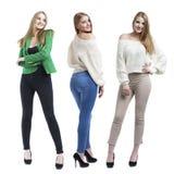 Collage drie modellen van het manierblonde stock foto