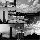 Collage - Driving in Istanbul, Turkey Royalty Free Stock Images