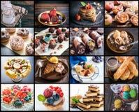 Collage dulce del alimento foto de archivo libre de regalías