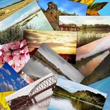 Collage of Eastern Kazakhstan Stock Photos