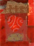 Collage ecléctico del corazón Imágenes de archivo libres de regalías