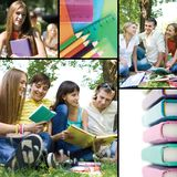Collage of education Royalty Free Stock Image