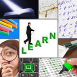 Collage of education images Royalty Free Stock Photography