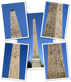 Collage of an Egyptian obelisk Royalty Free Stock Photos