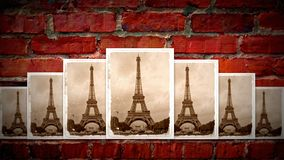 Collage of eiffel tower Stock Image