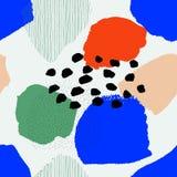Collage eigentijds abstract naadloos retro patroon royalty-vrije illustratie