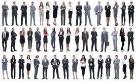 Collage einer Vielzahl der Geschäftsleute, die in Folge stehen stockfotografie