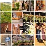 Collage Elsass, Frankreich stockfoto