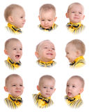 Collage. Emociones del niño pequeño Fotografía de archivo