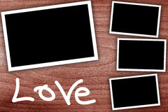 Collage, empty frames Royalty Free Stock Photography