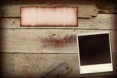 Collage en bois Photo stock