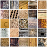 Collage en bois Image stock