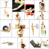 Collage en bois de mannequin Photo libre de droits