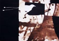 Collage en el papel del pájaro del paraíso Fotografía de archivo libre de regalías