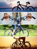 Collage en paseo de la bicicleta Imagen de archivo libre de regalías