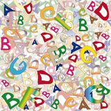 Collage of English letters Stock Photography