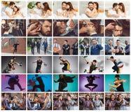 Collage environ un jour de la vie du jeune homme Images libres de droits