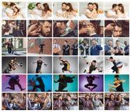 Collage environ un jour de la vie du jeune homme Photographie stock