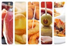 Collage español de los tapas Fotografía de archivo libre de regalías