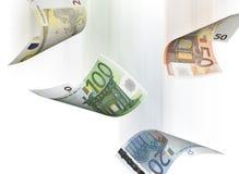 Collage euro de la cuenta aislado en blanco Foto de archivo libre de regalías