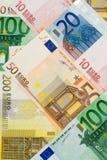 Collage euro del dinero en circulación imagen de archivo libre de regalías
