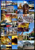 Collage européen de ville photos libres de droits