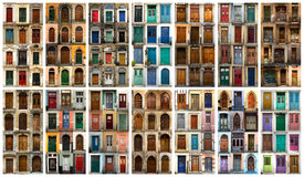 Collage of European doors Stock Images