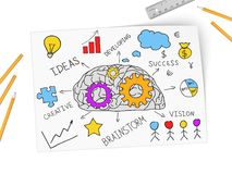 Collage expressing concept of business success Stock Photo