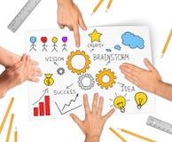 Collage exprimant le concept de la réussite commerciale Image stock