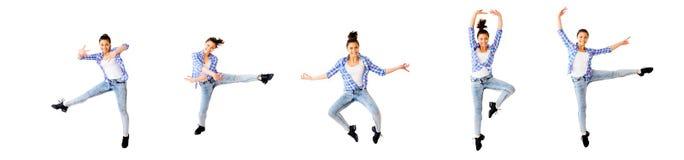 Collage för dansflicka royaltyfria foton