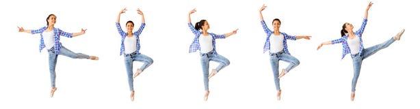 Collage för dansflicka arkivbild