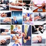 Collage för lag för affärsfolk. Fotografering för Bildbyråer