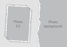 Collage för mall för sönderriven photoframe för kanter pappers- modern royaltyfri illustrationer