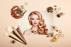 Collage för modedamtillbehör royaltyfri fotografi