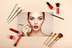 Collage för modedamtillbehör Royaltyfria Bilder