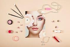 Collage för modedamtillbehör arkivfoton