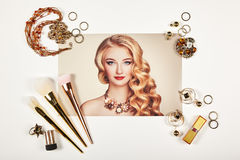 Collage för modedamtillbehör royaltyfri foto