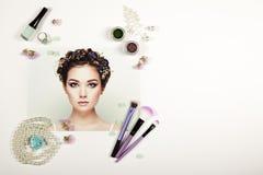 Collage för modedamtillbehör arkivbild