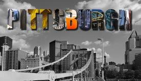 Collage för Pittsburgh PA-horisont Fotografering för Bildbyråer