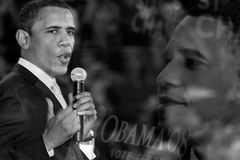 Collage för president Obama Arkivbild