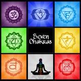 Collage för sju Chakras royaltyfri illustrationer