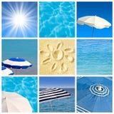 Collage för strandbegreppsfyrkant royaltyfri foto