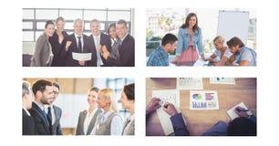Collage för teamworkaffärsmöte royaltyfri fotografi